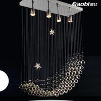 Lamps crystal lamp lighting fashion brief modern pendant light bedroom lamp living room lights 7103-4b