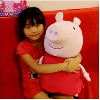 Wholesale - 62cm big size peppa pig & george pig pink cartoon stuffed plush kids toddler toys   freeshipping