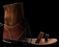 2014 Shoes New Tidal current men sandals cowhide personalized flat casual sandals fashion show sandals for Men, EU38-44