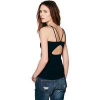 Modal spaghetti strap vest elastic slim free shipping cutout back