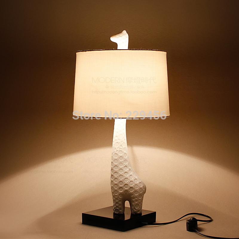 Novelty Table Lamp Giraffe Style Dimmer Modern Child Bedside Desk Light Lumin