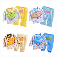 2014 new baby clothing set 12m-24m baby clothes set 3pcs/lot bib+t shirt+pants