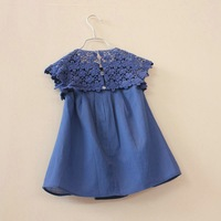 2014 summer new kids/children/girls clothing  girls lace dress Princess dress cotton dress