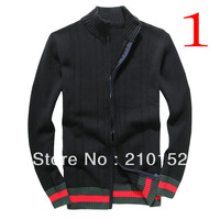 2014 Free Shipping Promotions Latest Design For Man's Cardigans Zipper Sweater Recreational Sports Men's Sweater Coat