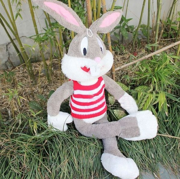 Free shipping 130cm Rabbit soft doll Bugs Bunny plush toy whosale and retails birthday gift(China (Mainland))