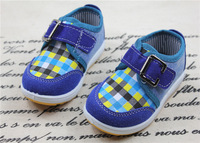 Free Shipping New Arrival Fashion Plaid Boy Shoes Spring Boy Child Sneakers