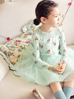 Free shipping 2014 new arrival Girls dress