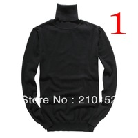 2014 Free Shipping Promotion Design Men's Latest Turtleneck High Quality Men's Suits Sweater Coat