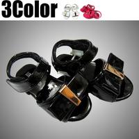 summer children kids shoes Patent Leather Black sandals Velcro take girls sandals girl sandal for girls, sandal for kids 5Size