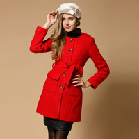 women coats winter fashion 2013,wool trench coat,british style peacoat,free shipping 1121D5269