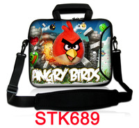 "2014 Bird 10"" inch Laptop Bag Notebook Case Cover Sleeve w/ Shoulder Strap,Handle,Outside Pocket Free shipping"