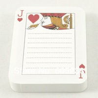 3 pcs Korea playing card note pad memo pad 90 Sheets