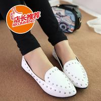 women flats  leather shoes new 2014 spring summer her shoe female ballet flats moccasins alpargata tourism 3 color size 35-39