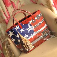Classic fashion brand PU shoulder bag shopping bag women's handbag