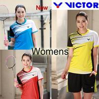 Womens 2014 Victor New Badminton Jerseys / tennis clothes /badminton women T-shirts /badminton shirts