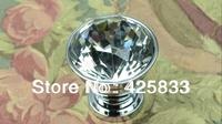 10pcs K9 Super Flash Lighting Crystal Dresser Knob Furniture Kitchen Glass Drawer Pulls Knobs Handles Door Knobs Drawer Pulls