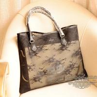 fashion limited edition Transparent Summer women cosmetics lace shoulder bag handbag