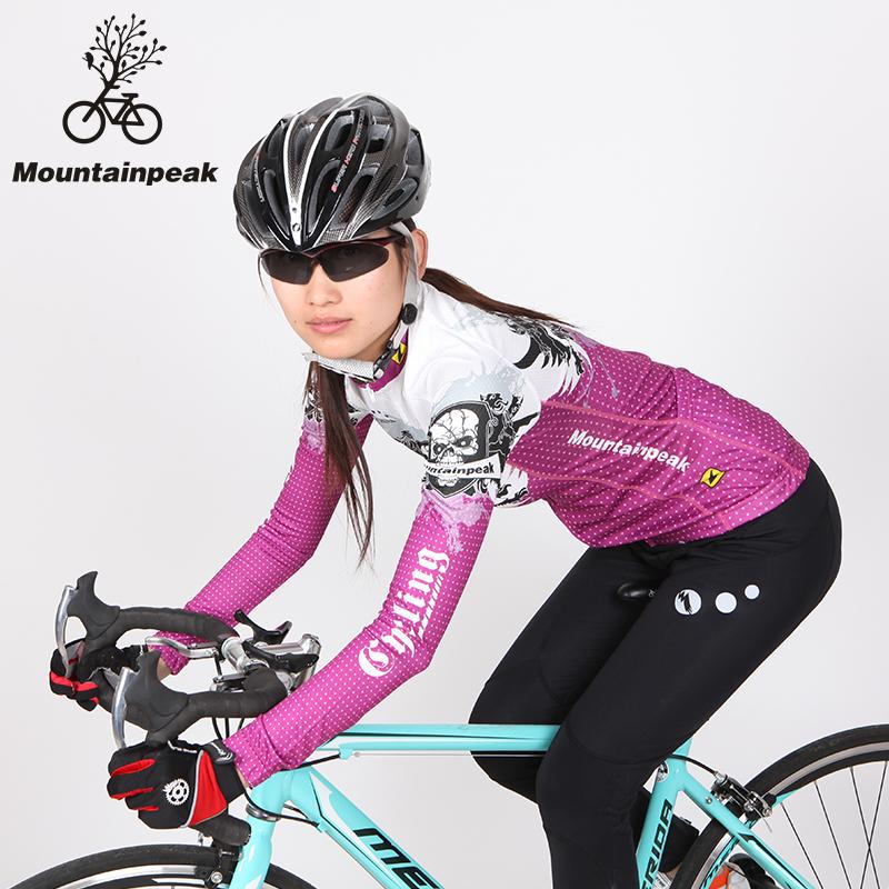 Mountainpeak primavera e no outono conjunto de roupas de veludo passeio bicicleta mountain bike de manga comprida feminina(China (Mainland))