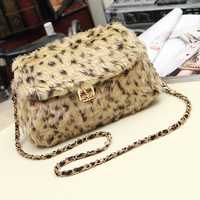 2014 vintage bag rabbit fur small bag women's handbag bag handbag shoulder bag
