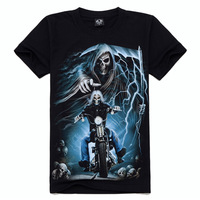 Mens t shirts fashion 2014 print 3D t shirt cotton short men's brand clothing free shipping #TX-KL-5