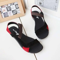 size 34-40 new 2014 fashion genuine leather PU wedding dress flat women sandals and women's spring summer shoes #Y5088F