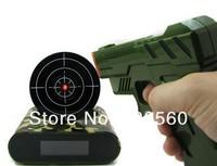 Free shipping 1Set Camoflage Gun Alarm Clock / Shoot Alarm Clock / Gun O'Clock - Camo