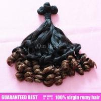 Qin berry 2pcs eurasian ocean tropic ombre loose wave double drawn meril curl  unprocessed  human virgin hair
