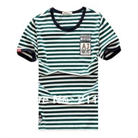 Famous Branded!!! 4 Colors Akaash JEANS AJ Stylish Leisure STRIPED Men's Polo Shirts Slim Fit Top Leisure Tees M-XXXL