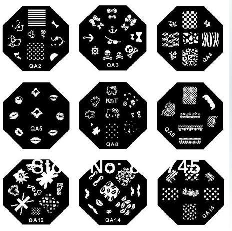 Free shipping 150pcs/lot M series Nail Art Stamping Image Metal Plate Polish Stamp Plates(China (Mainland))