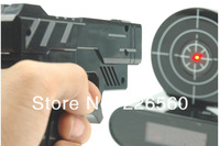 Free shipping 1Set Gun Alarm Clock / Shoot Alarm Clock / Gun O'Clock - Black