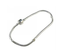 Wholesale Fashions Vintage  Silver  Snake Chain BRACELET 18cm  Fit Bead Charm DIY Jewelry Findings Free Shipping 50pcs P1147