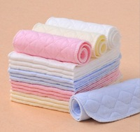 Free shipping BRAND 50pcs Washable reuseable Baby Cloth Diapers Nappy inserts microfiber 3 layers 46*17CM
