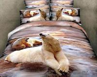 New Beautiful 100% Cotton 4pc Doona Duvet QUILT Cover Set bedding sets Full Queen King 4pcs animal bear