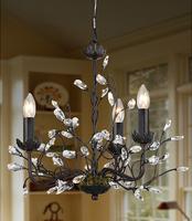 Lighting american retro antique finishing iron crystal pendant light