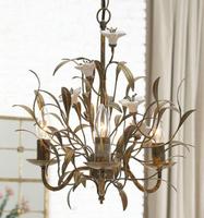 Ceramic flower antique wrought iron chandelier