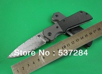 High Quality Damascus LY0085 Collection Folding Knife tactical survival knife multi tools with Carbon Fiber Handle ZC086