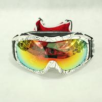 Snow Goggles Ski Glasses Polizia Quality Double Layer Anti-fog Polarized Skiing Mirror Card Myopia Single Male Snow Glasses Box