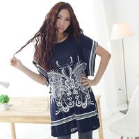 2014 Free Shipping New Arrival summer women's bohemia series - 38 chiffon shirt