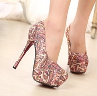 New Hot Spring Chinese Stereoscopic Embroidery Totem Red Bottom Thin High Heel Shoes,Party Pumps X214
