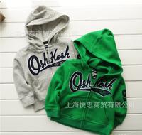 Children jackets boys letters oshkosh printed hoodie jacket