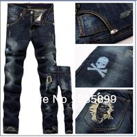 Fashion Men's long Jeans Trouser Straight Leg fit casual pants 2014 New Style brand male denim pants jean men L0567