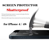 Anti-explosion Screen Protector for iPhone 4/4s High Quality Premium Real Tempered Glass Film