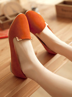 new 2014  round toe flat heel women's shoes velvet single shoes boat shoes cute fashion shoes female shoes 35-39