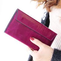 new 2014 purse women purses fashion ultra-thin genuine red wallet leather female buckle cowhide women's long designer wallets