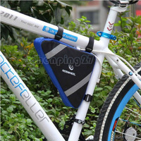 2013 Blue New Cycling Bike Bicycle Frame Front Tube Triangle Bag Quick Release