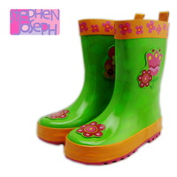 2013 cartoon flower female child slip-resistant rubber rain boots rainboots gumshoe