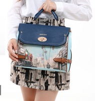 2014 New Fashion Trend ofTretro portable shoulder Messenger Postman Printing Female Bag Women's Handbag