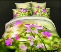 Wholesale of 100cotton queen 3d print bedding sets 4pcs duvet cover sheet /bedclothes/bed comforter /quilt covers(s72)