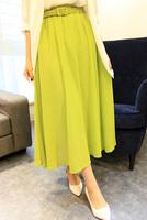 free shipping! 2014 summer fresh long skirt  bust skirt slim hip chiffon skirt(send belt)