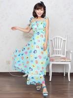 Elegant chiffon ruffle fairy irregular full dress one-piece dress beach dress tube top dress